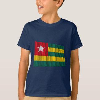 Bandera que agita de Togo Playera