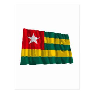 Bandera que agita de Togo Postal