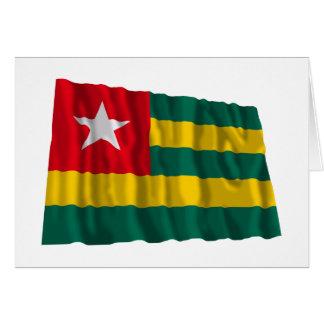 Bandera que agita de Togo Tarjeta De Felicitación