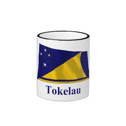 Bandera que agita de Tokelau con nombre Tazas