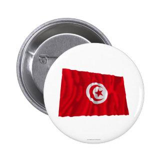 Bandera que agita de Túnez Pin Redondo 5 Cm