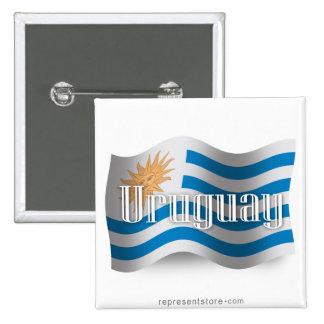 Bandera que agita de Uruguay Pin