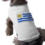 Bandera que agita de Uruguay Ropa De Perro