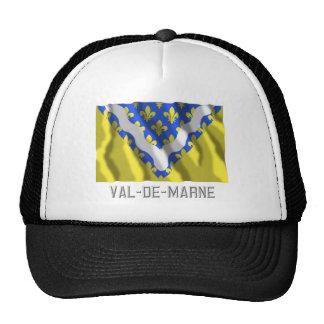 Bandera que agita de Val-de-Marne con nombre Gorros Bordados