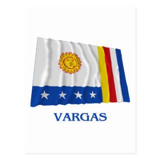 Bandera que agita de Vargas con nombre Tarjetas Postales