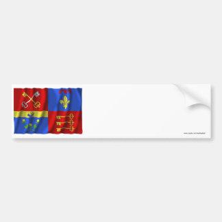 Bandera que agita de Vaucluse Etiqueta De Parachoque
