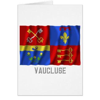 Bandera que agita de Vaucluse con nombre Tarjeta