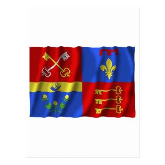 Bandera que agita de Vaucluse Tarjeta Postal