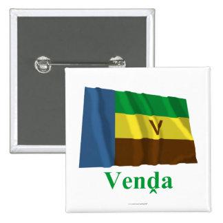 Bandera que agita de Venda con nombre en Venda Pin Cuadrada 5 Cm
