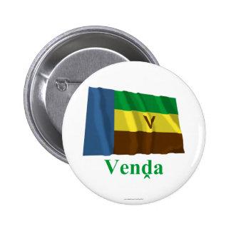 Bandera que agita de Venda con nombre en Venda Pin Redondo 5 Cm