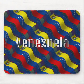 Bandera que agita de Venezuela Tapetes De Ratones