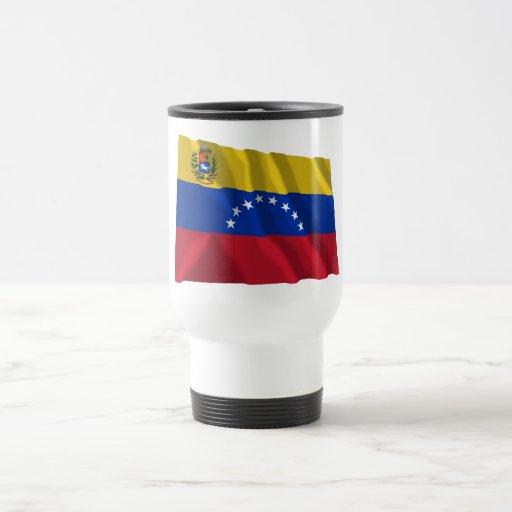 Bandera que agita de Venezuela Tazas