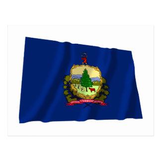 Bandera que agita de Vermont Tarjetas Postales