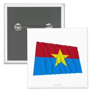 Bandera que agita de Viet Cong Pin Cuadrada 5 Cm