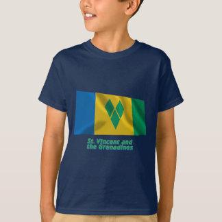 Bandera que agita de Vincent de santo con nombre Camisas