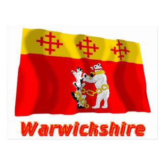 Bandera que agita de Warwickshire con nombre Postal