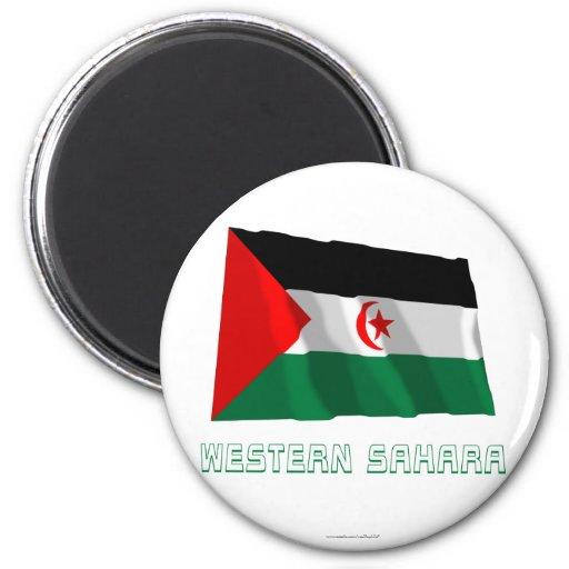 Bandera que agita de Western Sahara con nombre Imán Redondo 5 Cm