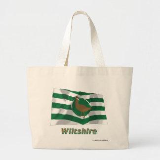 Bandera que agita de Wiltshire con nombre Bolsa De Mano