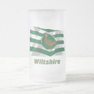 Bandera que agita de Wiltshire con nombre Jarra De Cerveza Esmerilada