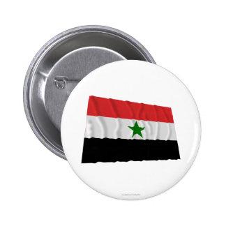 Bandera que agita de Yemen (1962-1990) Pin Redondo 5 Cm