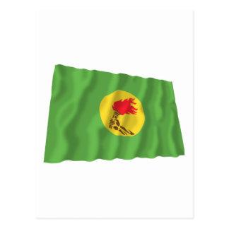 Bandera que agita de Zaire (1971-1997) Tarjeta Postal