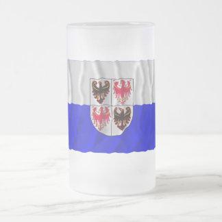 Bandera que agita del Adigio del Trentino-Alto Taza De Cristal
