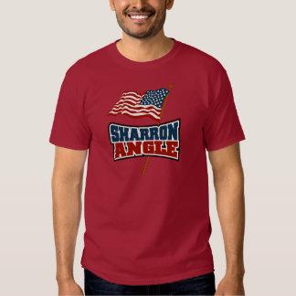 Bandera que agita del ángulo de Sharron Camisas