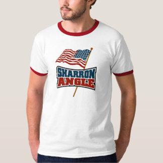 Bandera que agita del ángulo de Sharron Playera
