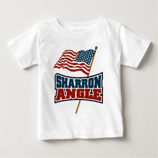 Bandera que agita del ángulo de Sharron Playera Para Bebé