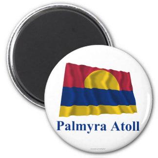 Bandera que agita del atolón de Palmyra con nombre Iman De Nevera