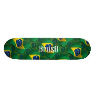 Bandera que agita del Brasil Skate Boards