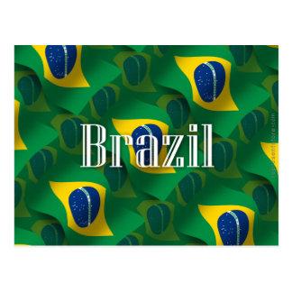 Bandera que agita del Brasil Tarjetas Postales