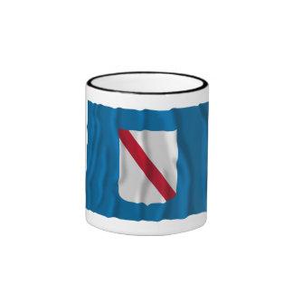 Bandera que agita del Campania Tazas De Café