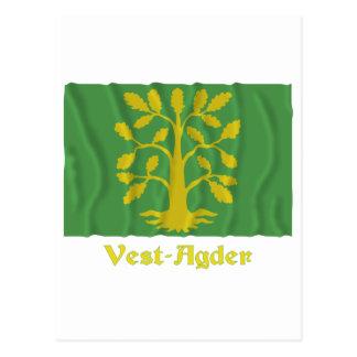 Bandera que agita del Chaleco-Agder con nombre Postal