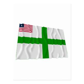 Bandera que agita del condado de Sinoe Tarjeta Postal