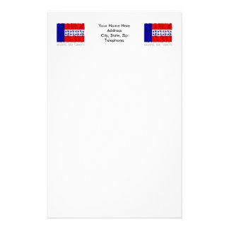 Bandera que agita del DES Tuamotu de Archipel con Papelería Personalizada