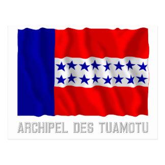 Bandera que agita del DES Tuamotu de Archipel con Postal