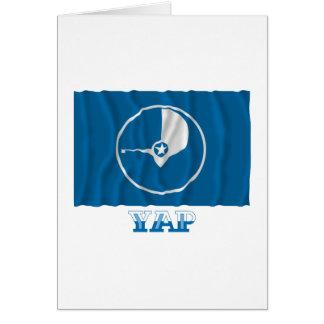 Bandera que agita del ladrido, con nombre tarjeta de felicitación