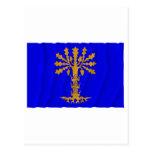 Bandera que agita del län de Blekinge Tarjetas Postales