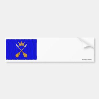 Bandera que agita del län de Dalarnas Pegatina De Parachoque