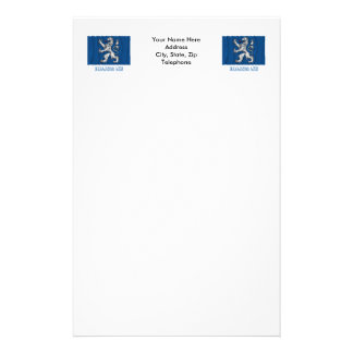 Bandera que agita del län de Hallands con nombre Personalized Stationery