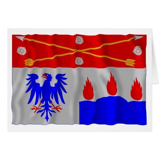 Bandera que agita del län de Örebro Tarjeta De Felicitación