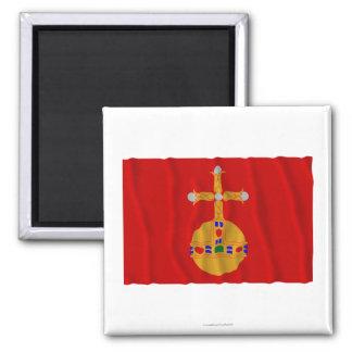 Bandera que agita del län de Uppsala Imán Cuadrado