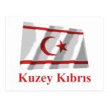 Bandera que agita del norte de Chipre con nombre Postal