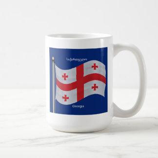 Bandera que agita del país de Georgia Taza Clásica