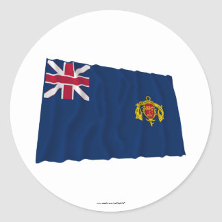 Bandera que agita del regimiento de New Hampshire Etiqueta Redonda