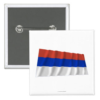 Bandera que agita del República Serbia Pin Cuadrada 5 Cm