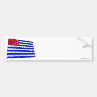Bandera que agita del sedero del fuerte pegatina para auto