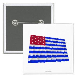 Bandera que agita del sedero del fuerte pin