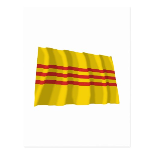 Bandera que agita del sur de Vietnam Tarjeta Postal